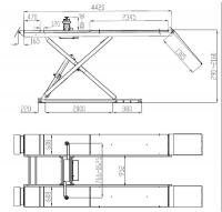 Ножничный подъемник F6109 (+LR)  АE&T