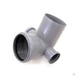 Отвод универсальный 110/50х87,5° левый-правый внутренняя канализация VALFEX