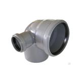 Отвод универсальный 110/50х87,5° правый внутренняя канализация VALFEX