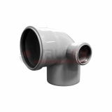 Отвод универсальный 110/50х87,5° левый внутренняя канализация VALFEX