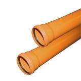 Труба Ø160х4,9мм с раструбом рыжая наружная канализация VALFEX