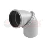 Отвод поворотный ( универсальный) внутренняя канализация VALFEX