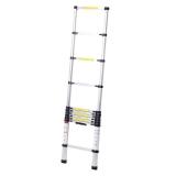 """Лестница алюминиевая телескопическая """"Tundra Premium"""" 11 ступеней 3,2 метра"""