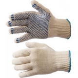 Перчатки вязаные с ПВХ прочные 42 гр